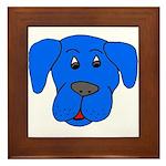 Puppy Dog Design (Dogs Blue) Framed Tile