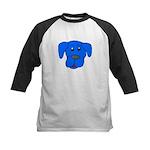 Puppy Dog Design (Dogs Blue) Kids Baseball Jersey