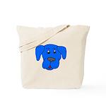 Puppy Dog Design (Dogs Blue) Tote Bag