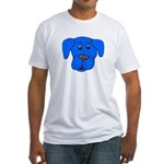 Puppy Dog Design (Dogs Blue) Fitted T-Shirt