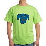 Puppy Dog Design (Dogs Blue) Green T-Shirt