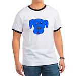 Puppy Dog Design (Dogs Blue) Ringer T