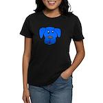 Puppy Dog Design (Dogs Blue) Women's Dark T-Shirt