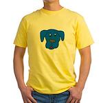 Puppy Dog Design (Dogs Blue) Yellow T-Shirt