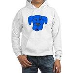 Puppy Dog Design (Dogs Blue) Hooded Sweatshirt