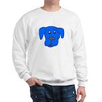 Puppy Dog Design (Dogs Blue) Sweatshirt