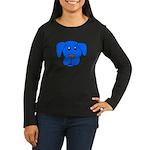Puppy Dog Design (Dogs Blue) Women's Long Sleeve D