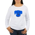 Puppy Dog Design (Dogs Blue) Women's Long Sleeve T
