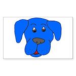 Puppy Dog Design (Dogs Blue) Rectangle Sticker