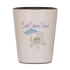 Saint Simons Island Shot Glass