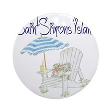 Saint Simons Island Round Ornament