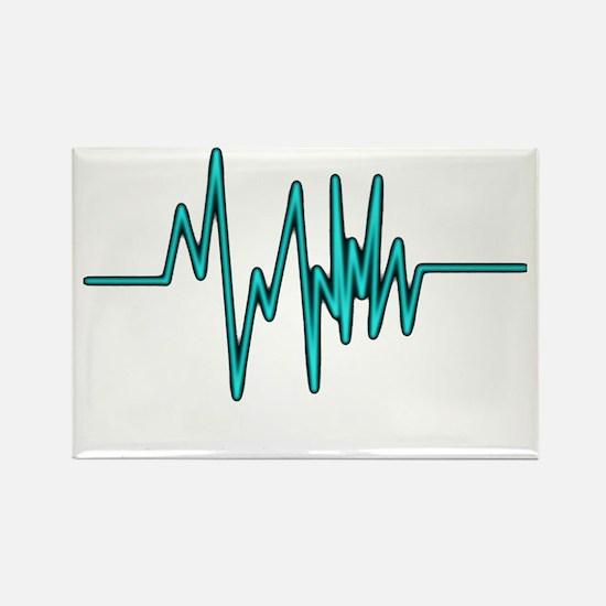 sound wave Rectangle Magnet