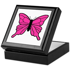 Pink Butterfly Keepsake Box