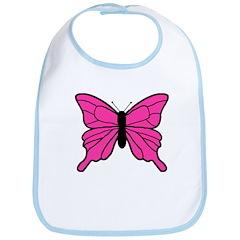Pink Butterfly Bib