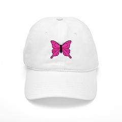 Pink Butterfly Baseball Cap