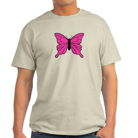 Pink Butterfly Light T-Shirt