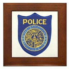 Sacramento Police Framed Tile