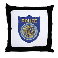 Sacramento Police Throw Pillow