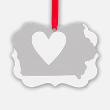 Heart Iowa state silhouette Ornament