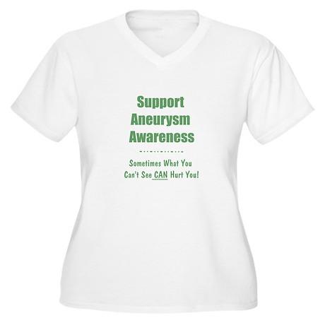 Support Aneurysm Awareness Women's Plus Size V-Nec