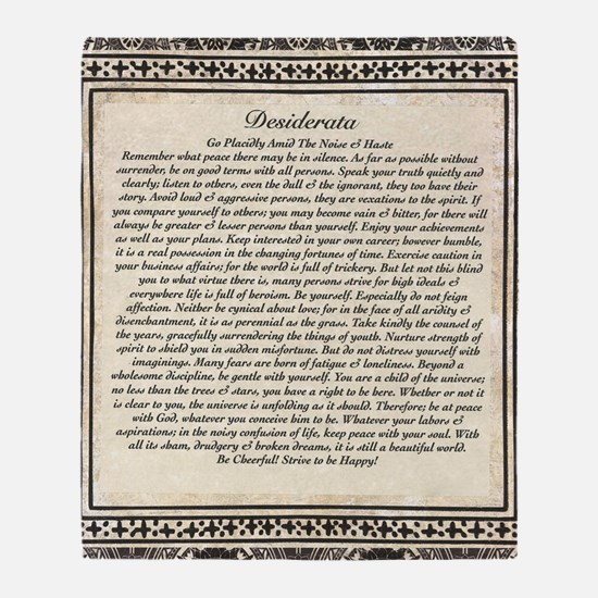 Olde Goth Design Desiderata Poem Throw Blanket