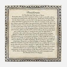 Olde Goth Design Desiderata Poem Tile Coaster