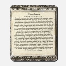 Olde Goth Design Desiderata Poem Mousepad