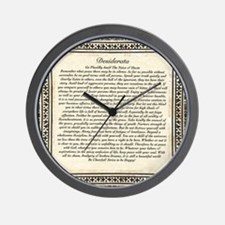 Olde Goth Design Desiderata Poem Wall Clock