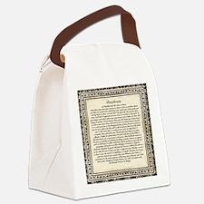 Olde Goth Design Desiderata Poem Canvas Lunch Bag