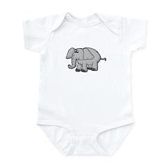 Elephant Animal Design Infant Bodysuit