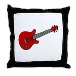 Guitar (Musical Instrument) D Throw Pillow