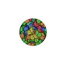 Colorful Butterflies Mini Button