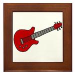 Guitar (Musical Instrument) D Framed Tile