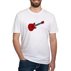 Guitar (Musical Instrument) D Fitted T-Shirt