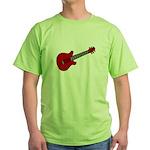Guitar (Musical Instrument) D Green T-Shirt