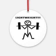 Lightweight Squats Round Ornament