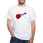 Guitar (Musical Instrument) D White T-Shirt