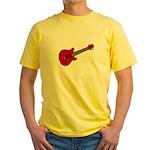 Guitar (Musical Instrument) D Yellow T-Shirt