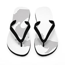 Heart Michigan state silhouette Flip Flops
