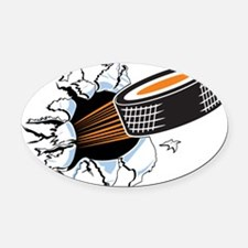 Hockey Oval Car Magnet