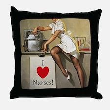 Nifty Nurse Throw Pillow