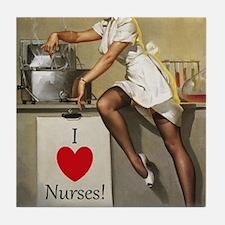 Nifty Nurse Tile Coaster