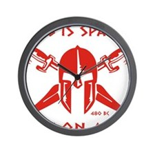 This is Sparta (Red) Wall Clock