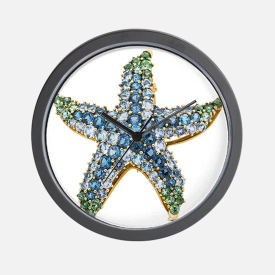 Starfish Vintage Rhinestone Costume Jew Wall Clock