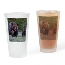 MAMMA GRIZZLY and CUBS Drinking Glass