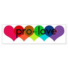 Pro-LOVE Bumper Bumper Sticker
