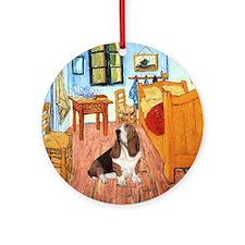 Van Gogh's Room & Basset Ornament (Round)