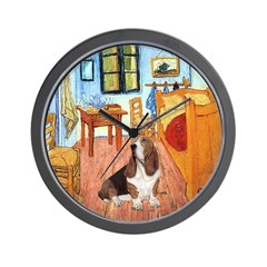 Van Gogh's Room & Basset Wall Clock