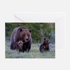MAMMA GRIZZLY and CUBS Greeting Card