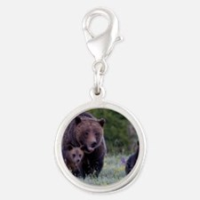 MAMMA GRIZZLY and CUBS Silver Round Charm